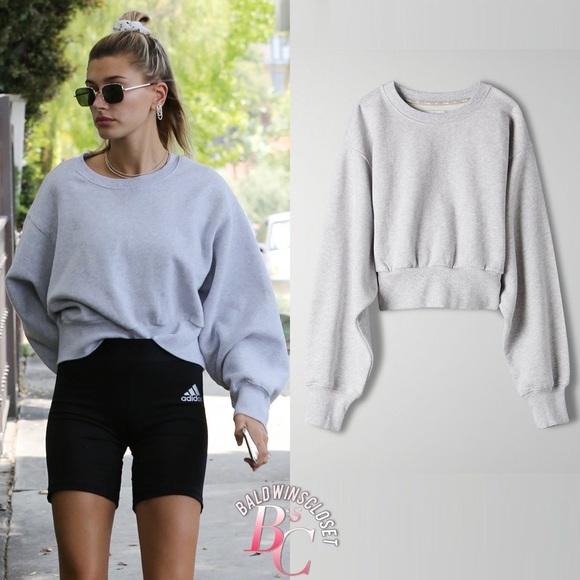 Aritzia cropped sweatshirt